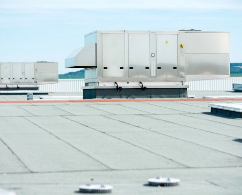 commercial rooftop heating installation